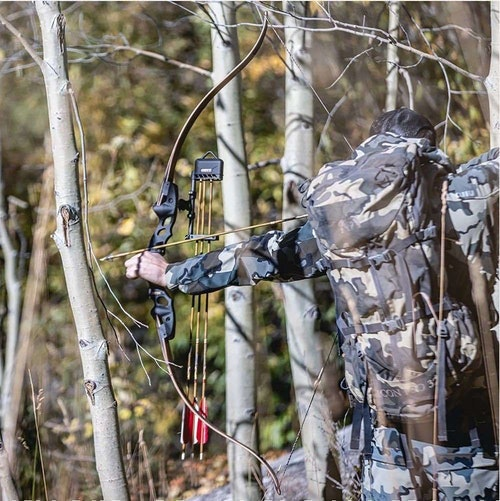 Compared to compounds and crossbows, traditional bows are easier to maintain. That said, they require more practice to shoot accurately. (Photo from Hoyt Facebook.)