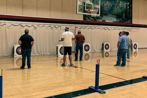 Social distancing and mask wearing are a part of NASP instructor training and face-to-face youth competitions.