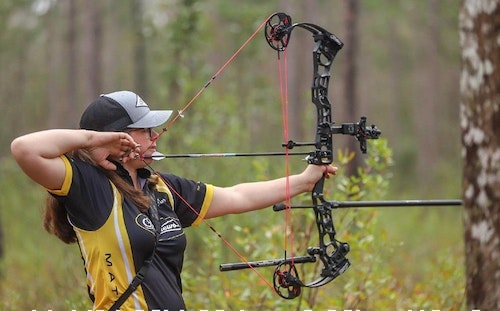 Team Mathews shooter Cara Kelly took first place in the Women's Open Pro division.