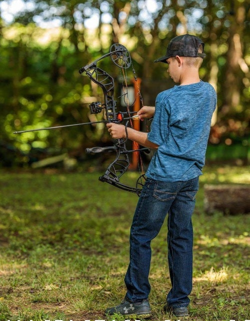 Compound bows are a natural gateway to competing in 3-D archery tournaments. (Photo from Bear Archery Facebook.)