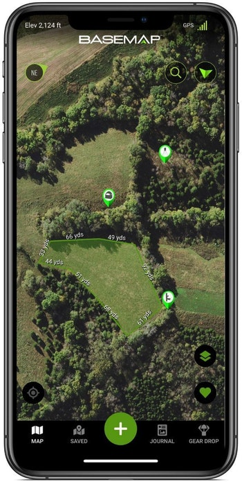 BaseMap has numerous features, including a tool that gives you the ability to measure the size of food plots. It allows you to draw an area on the map and it will calculate the number of acres. With this info, you can buy the correct amount of fertilizer and seed for a food plot.