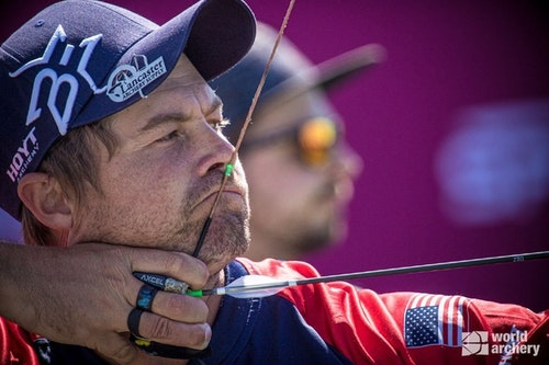 Team USA's Brady Ellison took gold in individual men's recurve.