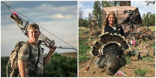 Fred and Michele Eichler love to bowhunt, and the same is true for their children. The entire Eichler crew is shown below.