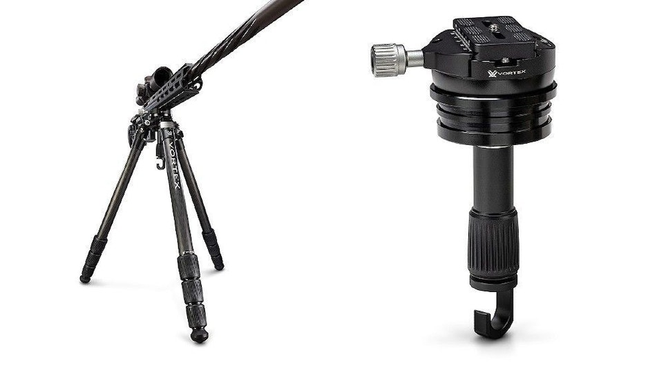 Photo above and below: Radian Carbon Fiber Tripod With Leveling Head