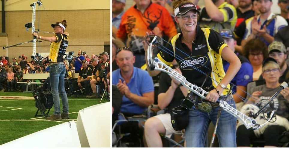 Team Mathews shooter Sharon Wallace took home first place at the recent ASA Pro/Am in Paris, Texas.