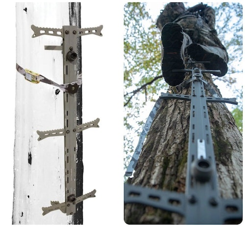 Climbing sticks, such as Hawk Helium Climbing Sticks, don't damage trees, making them legal on public land across the country.