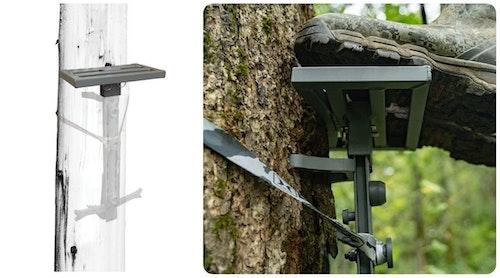 The Hawk Helium HSP Platform mounts to the top of a Hawk Helium Climbing Stick.
