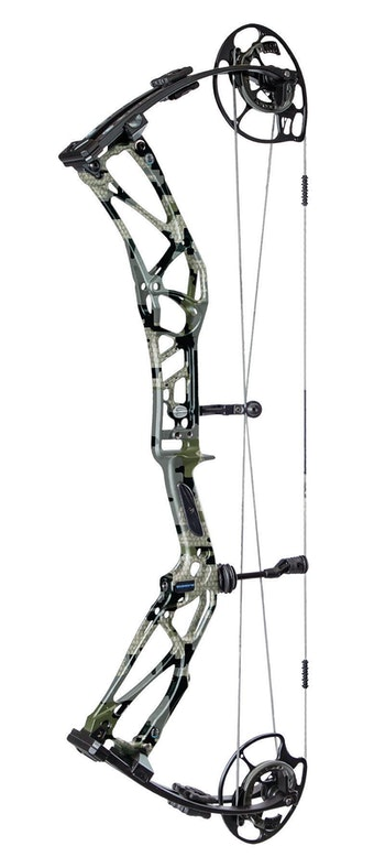 Elite EnKore with riser and limbs in KUIU Verde camo finish.