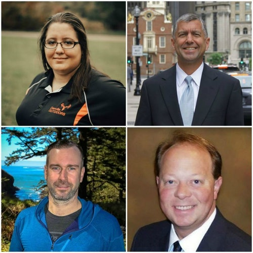 Speakers for the Monday Educational Seminars include, clockwise starting at the top left, Whitney Johnson, Gary Lambert, Tim Glomb and Jon Rydberg.