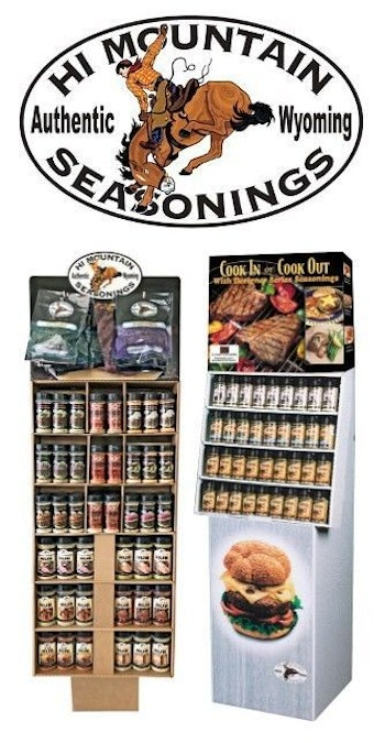 Two Hi Mountain Seasonings point-of-purchase displays will include free shipping for orders placed before June 14, 2019.