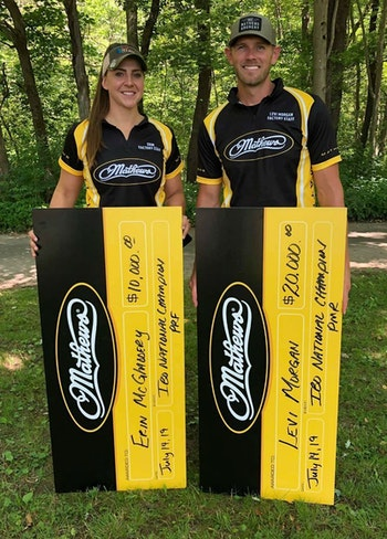 IBO National Triple Crown Champions for 2019 Erin McGladdery and Levi Morgan.