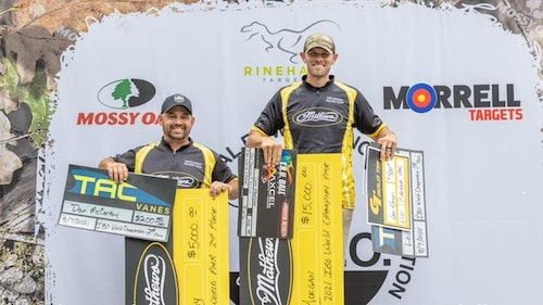 Levi Morgan (right) edged out his Mathews' teammate Dan McCarthy in the recent IBO World Championship in Pennsylvania.