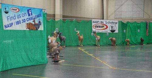 As shown here, targets at the 3D Challenge are not at the same range for student archers.