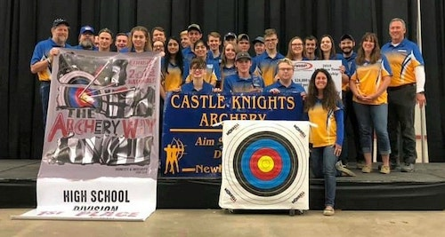 Castle High School from Newburgh, Indiana, was the overall top high school target team during the 2019 Eastern Nationals with a score of 3,480 out of 3,600. Castle High also won the title in 2018.