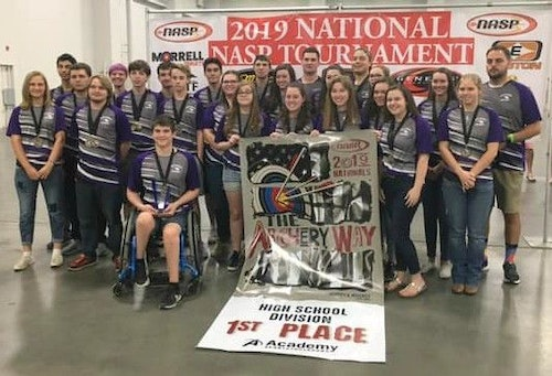 Taking first place for high schools in the 2019 Western NASP Nationals was Battlefield High School (Virginia) with 3,361 points out of 3,600.