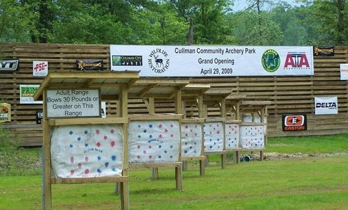 Cullman Community Archery Park in north central Alabama was completed in 2009. The range was built with the help of WSFR funding and is greatly utilized by the community. (Photo courtesy of Alabama Department of Conservation and Natural Resources.)