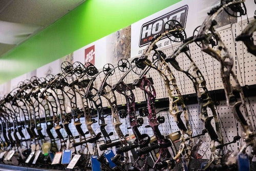 You'll be in good shape if you offer a good selection from four or five brands of compound bows. Don't get carried away and stock too many.