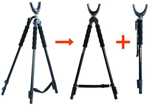 Fact: When it comes to shooting a crossbow or a gun, a monopod is better (more stable) than freehand, a bipod is better than a monopod, and a tripod is better than a bipod.