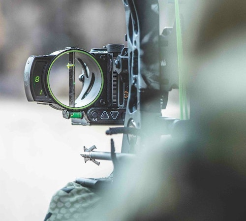 The Burris Oracle bowsight provides a precise distance measurement to your target, as well as a single aiming point.