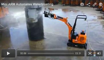 Mini ARM Automates Waterblasting