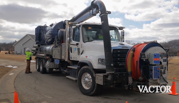 Vactor Truck's Water Recycling Feature Improves Contractor's Efficiency