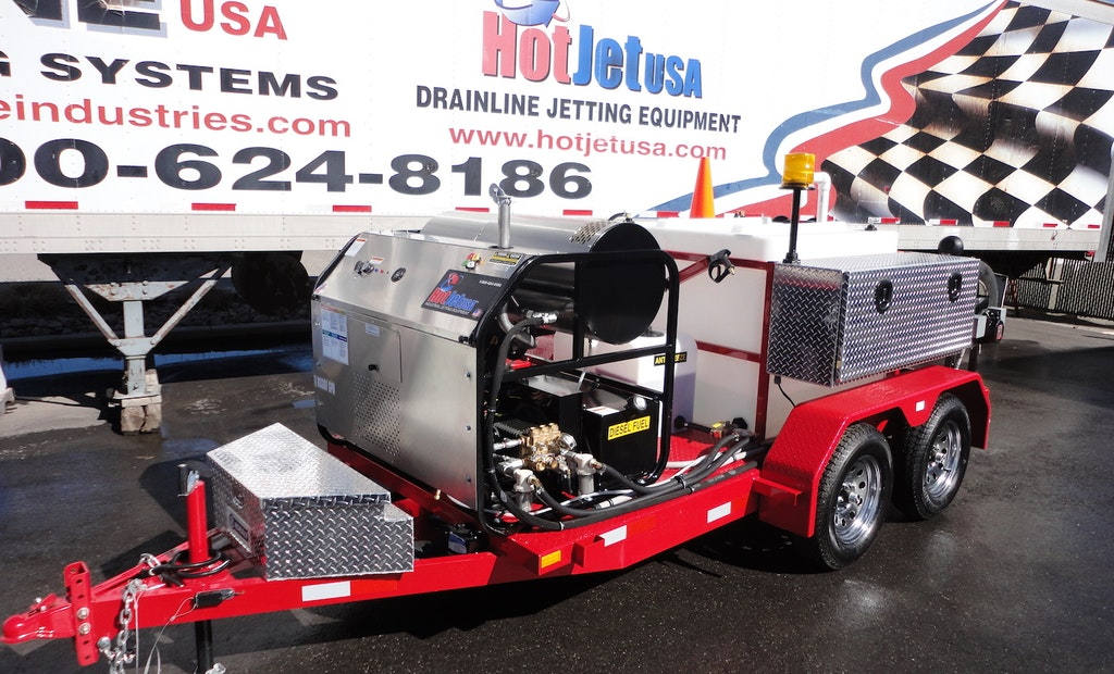 Spotlight: HotJet II Hot/Cold Water Sewer and Drainline Trailer Jetter