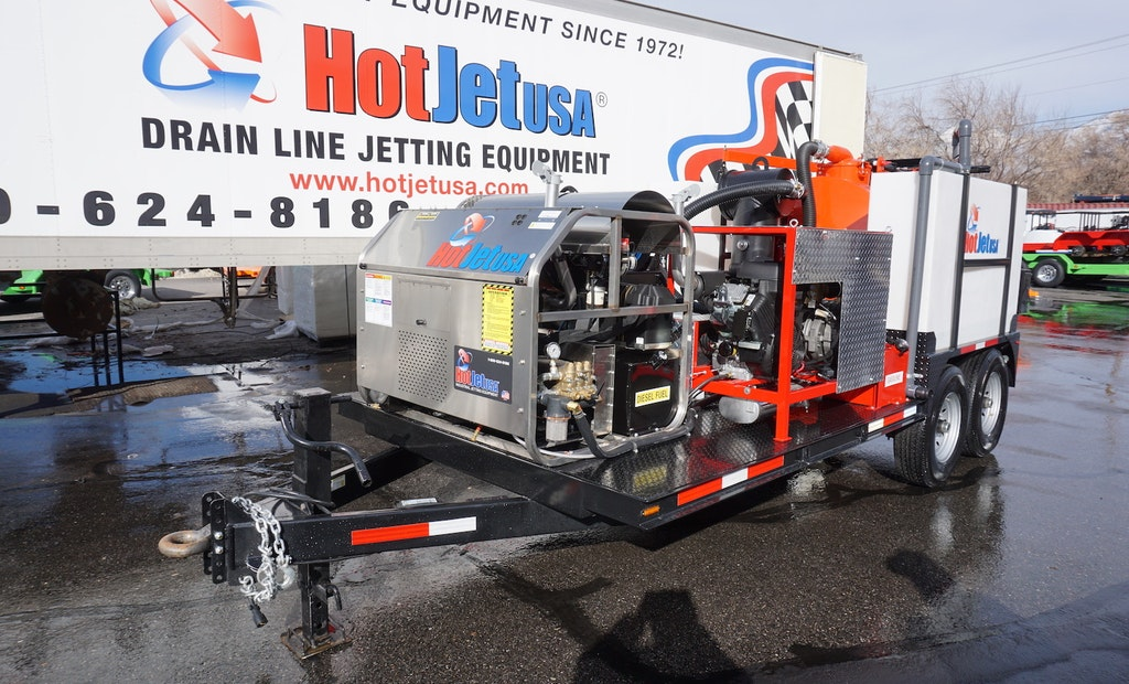 4-in-1 Hydroexcavator, Jetter, Vacuum and Power Washing Trailer Units are the Answer for Cost-Conscious Professionals