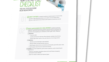 Here's a Free Checklist to Mitigating I&I