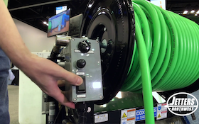 Jetter Hose Reel Rewind Options