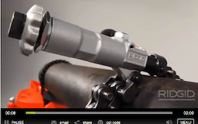 RIDGID Powered Soil Pipe Cutter Offers Clean Cuts in Tight Spaces