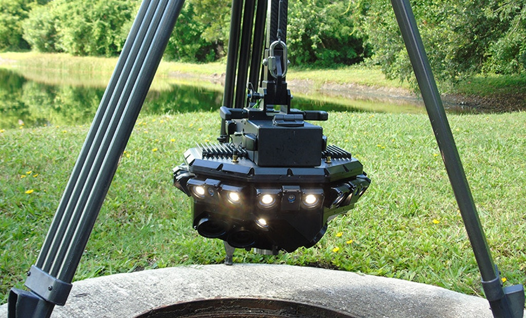 CUES SPiDER Offers Wireless 3D Manhole Inspection With Color Imagery