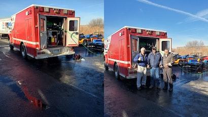 HotJet USA Retrofits Vintage Ambulance with a Cold Water XtremeFlow II