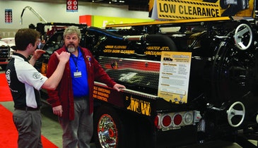 Low-profile vacuum/jetting truck  was an Expo show-stopper