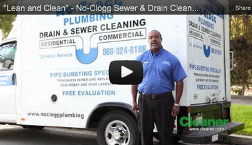 """Lean and Clean"" – No-Clogg Sewer & Drain Cleaning – July 2012 Cleaner Video Profile"