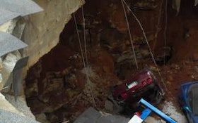 Contractor Helps Recover Corvettes From Sinkhole