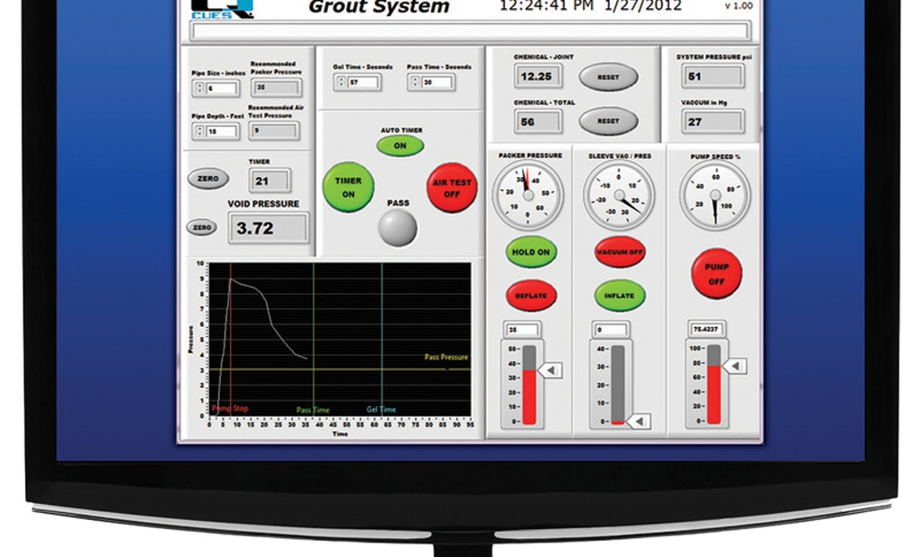 Intuitive grouting control system saves time
