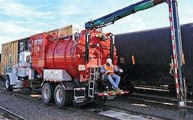 Industrial Vacuum Truck - Guzzler Manufacturing Hi-Rail