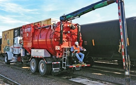Guzzler CL Industrial Vacuum Truck Equipped with Gerotto Lombrico Mini-Excavator