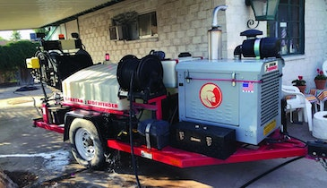 Trailer Jetter Sets Up Pipe Rehab Work