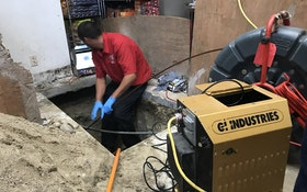 Machine's Ability to Flush Pipes With Air Pressure Benefits Contractor