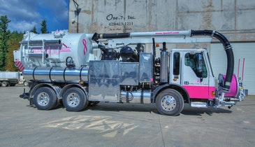 Combination Sewer Cleaner Gets Pink Makeover for Breast Cancer Awareness
