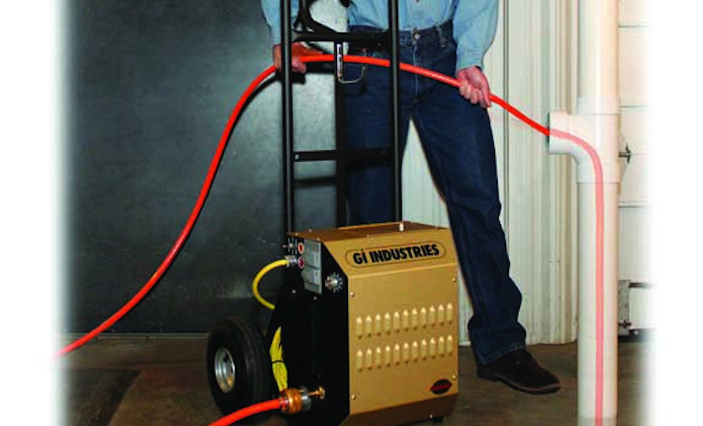 GI Industries Pipe Cleaning Machine Clears up to 24-Inch Lines