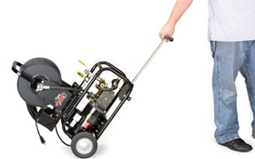 Electric, gas jetters combine  portability and maneuverability