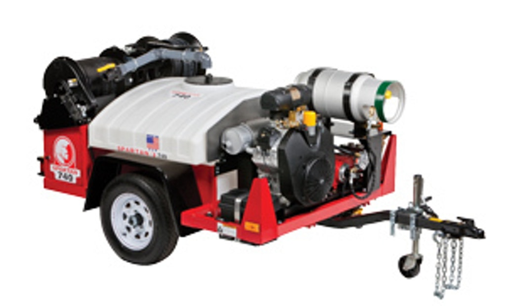 Propane-powered jetter  provides clean-air alternative