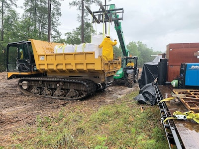 Swamps and a Tropical Storm Made This Dewatering Project a Challenge