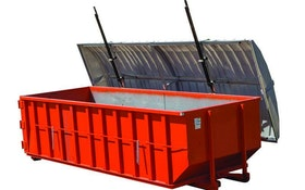 Wastequip lockable roll-off container covers