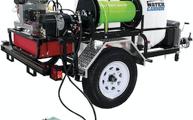 Water Cannon Inc. two-wheel commercial jetter trailer