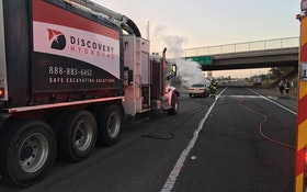 Hydroexcavator Comes to the Rescue in Car Fire