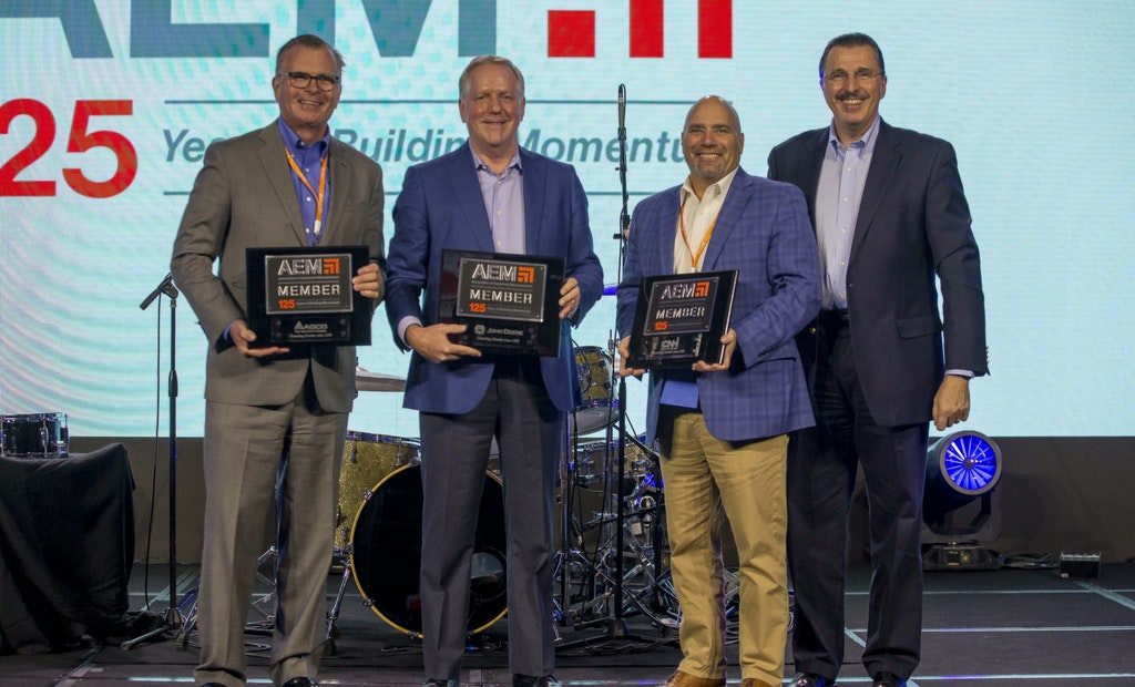 Association of Equipment Manufacturers Honors Companies for Longtime Industry Service