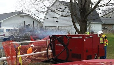 Pipe bursting effective in sandy soil, high water table